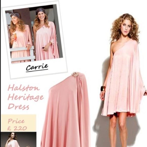 16b61313 Halston Heritage Dresses | Satc Peach One Shoulder Dress | Poshmark